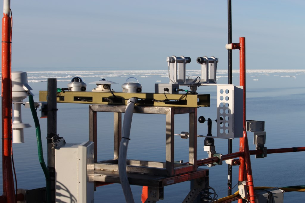 Ship radiation system installed on supply vessel during MARCUS campaign across Southern Ocean